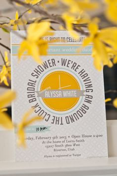 Around the Clock Wedding Shower Invitation - Download - Customizable