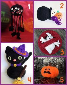 A collection of free newest Halloween amigurumi patterns (September 2016).
