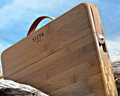100% Solid Carmel Bamboo – CNC machined and hand assembled.Hand-Crafted Leather Strap – Hand burnished and oiled.