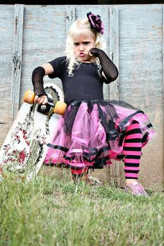 Punk PRINCESS - Girl's Halloween Costume- Baby Infant Toddler (0 - 6T) - Black and Pink- Custom Order - Photograph Prop for $85.00 at etsy.com