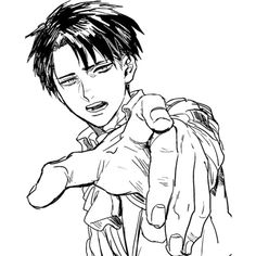 Fanart monochrome snk shingeki no kyojin attack on titan Levi Rivaille ❤ liked on Polyvore featuring anime, manga and snk