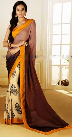Pay attention #ladies! Update your #wardrobe with latest designer pieces of printed #sarees!
