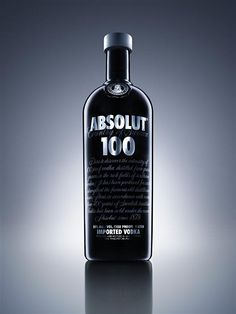 """""""Absolut 100 is a higher proof vodka in an opaque black, chrome silver and grey bottle, which has been designed to appeal to a global male audience."""""""