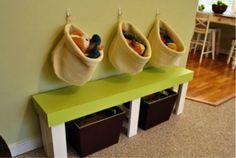 Le rangement des jouets dans la chambre des enfants