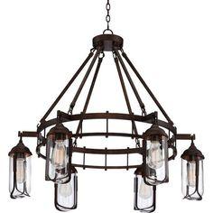 "Anselda 36"" Wide 6-Light Bronze Chandelier - Style # 7C654"