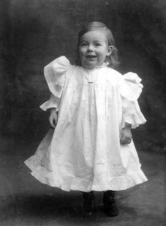 Ernest Hemingway, 18 months old, posing for a photo in Courtesy: John F. Kennedy Presidential Library and Museum