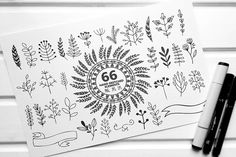 66 Hand sketched elements for design by lokko studio on @creativemarket