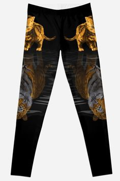 Cute little Hobbes  Leggings #tshirt #clothing #womanfashion #lion #tiger #cat #bigcat #beautifulanimal #jungle #puma #stipestiger #stripesskins #calvinandhobbes #hobbes