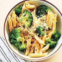 Cheesy Penne with Broccoli | Cookinglight.com
