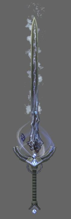 Sword of Peter John Adams wielding the powers of water wind and ice Fantasy Sword, Fantasy Weapons, Fantasy Rpg, Katana, Anime Weapons, Weapons Guns, Espada Anime, Dungeons And Dragons, Cool Swords