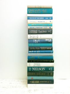 Aqua ,Grey, Turquoise Decorative Books, 22 Books