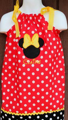 Minnie Mouse Pillowcase Dress Dresses ON SALE by suestevepat, $25.00