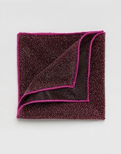 ASOS Sparkly Pocket Square In Pink