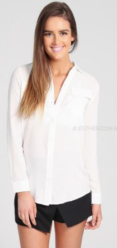 Really like this Ivory Wren Shirt. Perfect staple for an interview or a chic outfit choice  - Sponsored by Esther