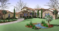 Mediterranean Estate Home Plan - 16827WG thumb - 01