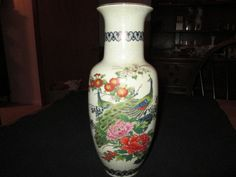 VINTAGE ANDREA BY SADEK VASE 12 1/4'' TALL HAND PAINTED  MADE IN JAP