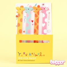 Yurj Animal Long Note Sticker - Giraffe