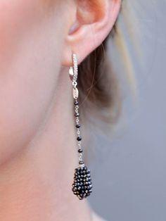 Handmade DDL Designer Black Diamond 18 K  Dangle by DGXJewelry