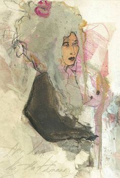 "Saatchi Art Artist Ute Rathmann; Drawing, ""Hommage à Gainsborough IV"" #art"