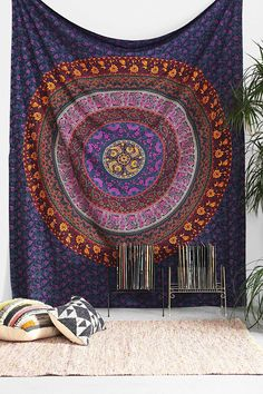 Mandala Tapestry Tapestries Indian Tapestry Hippie