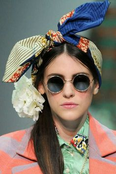 aefc8f54ca05 Stella Jean Spring 2014 - Head Scarves and Round Sunglasses