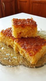 pie with orange and syrup . Greek Sweets, Greek Desserts, Greek Recipes, Cooking Recipes, Healthy Recipes, Sweets Cake, Confectionery, Food For Thought, Allrecipes