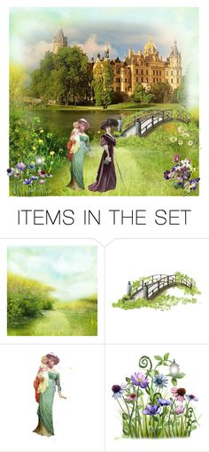 """victorian garden"" by atenaide86 ❤ liked on Polyvore featuring art"