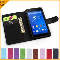 Luxury Wallet PU Leather Case Cover For Sony Xperia E4g Dual E2033 E2003 Cell Phone Shell Flip Back Cover With Card Holder Stand