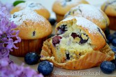 Muffiny z borówkami i cytrynową nutą - SmakiMaroka.pl Breakfast, Food, Morning Coffee, Eten, Meals, Morning Breakfast, Diet