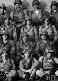 Camp Pendleton - Feb 1953 Marines who volunteered for another tour in Korea - the REAL heroes.