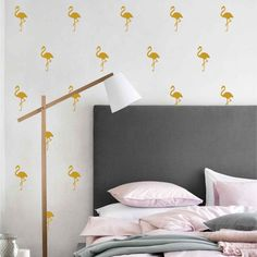 FLAMINGO GOLD WALL DECALS by LA LA LAND
