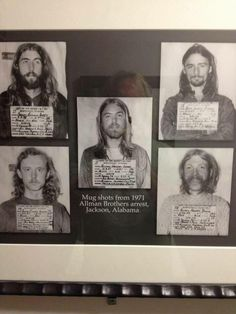 Allman Brothers mugshots