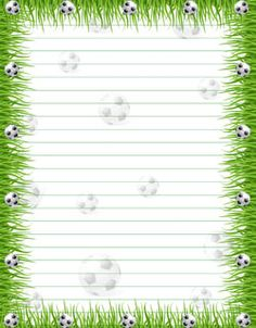 Free Printable Stationery Paper: Soccer