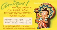 South Of The Border, No Bean Chili, Have You Tried, Big Boys, Bobs, Tabletop, Tent, History, Comics