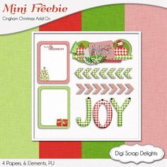 Digital scrapbook Freebie w Project Life cards. Download this freebie at the bottom of this page.