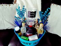 Dirty Thirty Survival Kit! I made this for our friends 30th Birthday.