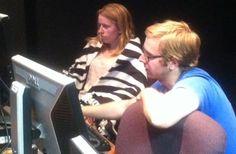 Brett Clancy and Meghan Sweeney in the control room. Concert, Room, Concerts, Rooms, Rum, Peace, Bedroom