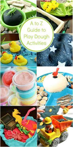 A to Z Guide to Play Dough Activities via @shaunnaevans