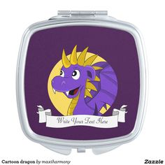 Cartoon dragon makeup mirror