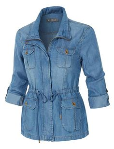 2020 jeans outfits 2020 trendy jeans jackets and outfits . Camo Jacket Women, Denim Fashion, Fashion Outfits, Looks Jeans, Jeans Denim, Jeans Bleu, Anorak Jacket, Jeans Dress, Leggings Are Not Pants