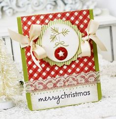 Merry Christmas card by Melissa Phillips for Papertrey Ink (October 2011).