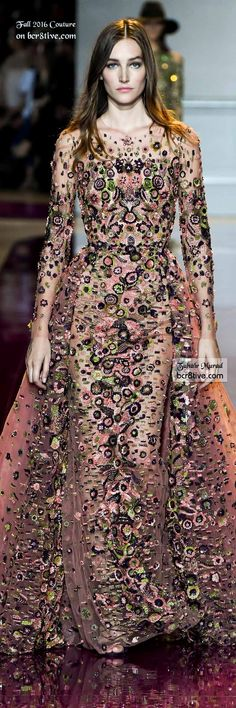 Zuhair Murad - The Best Fall 2016 Haute Couture Fashion Love how textured this looks Fashion Moda, Runway Fashion, Pretty Outfits, Pretty Dresses, Glamour, Haute Couture Fashion, Couture Collection, Beautiful Gowns, Dream Dress
