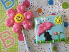 """Tiempo de primavera - bebé ducha """"cookies"""" (una docena)"""