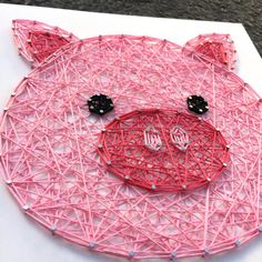 MADE TO ORDER String Art Pig Face Sign by TheHonakerHomeMaker