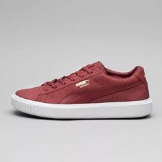 5bd0064d9140 Puma Breaker Trainers in Red. Gold Puma Breaker ensign and chunky sole.