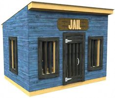 Blue Jail playhouse plan with bars Playroom Design, Kids Room Design, Kid Playroom, Girls Bedroom Furniture, Build A Playhouse, Teen Bedroom Designs, Easy Entertaining, Indoor Playground, Play Houses