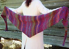 Lifelines, baktus knitted scarf/shawl ~ free