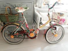 An old bike fixed up in fine style