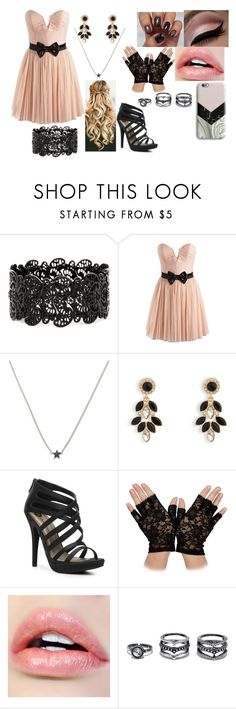 """""""night out"""" by sophie-swan ❤ liked on Polyvore featuring Lipsy, Isabel Lennse, Vera Bradley, Michael Antonio, LULUS and Harper & Blake"""