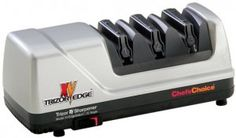 Chef'sChoice 15 Trizor XV EdgeSelect Professional Electric Knife Sharpener for Straight and Serrated Knives Diamond Abrasives Patented Sharpening System Made in USA, Gray: Chefs Choice Edge Select: Kitchen & Dining